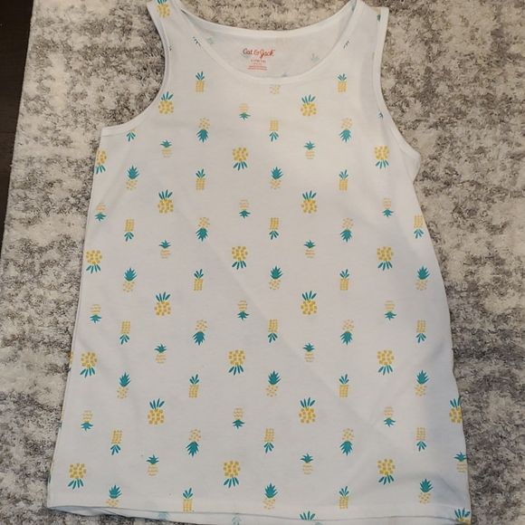 Cat and Jack pineapple tank top size L 10/12